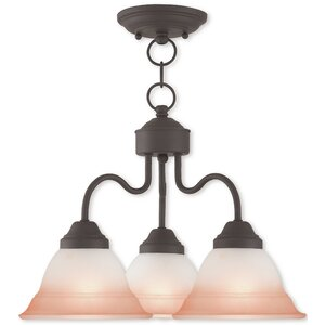 Stoudt 3-Light Shaded Chandelier