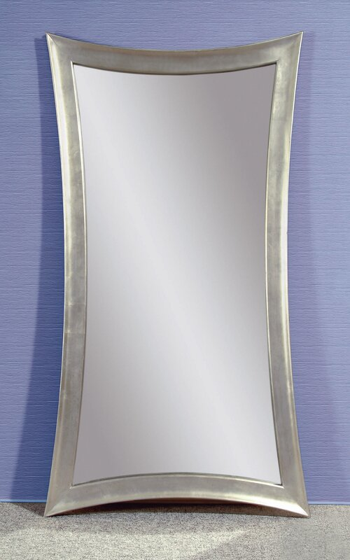 Catlin Concave Silver Leaf Leaner Mirror