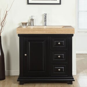 Built In Bathroom Cabinets Vanities open shelf bathroom vanity | wayfair