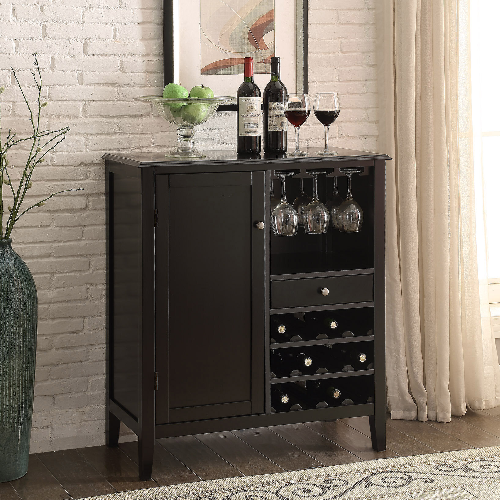 Homestyle Collection Cabernet 12 Bottle Floor Wine Cabinet U0026 Reviews |  Wayfair