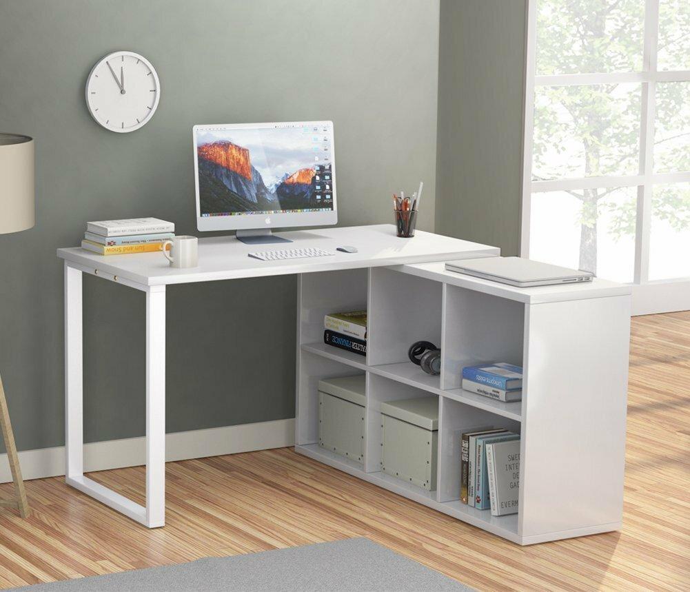 Remarkable Britni Modern Corner L Shape Writing Desk Interior Design Ideas Gentotryabchikinfo