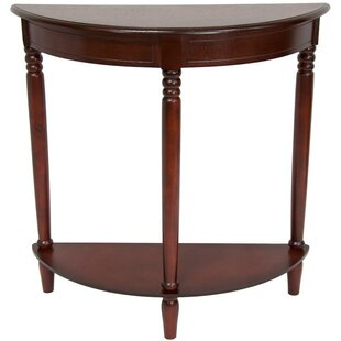 Winston Porter Calahan Walnut Half Moon Console Table Wayfair