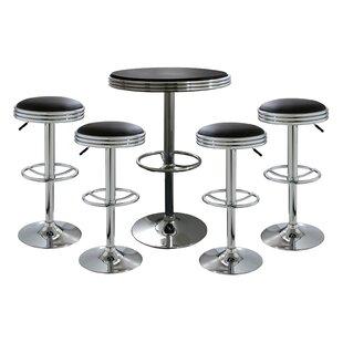 AmeriHome 5 Piece Pub Table Set