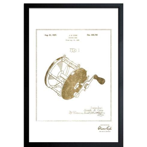Loon Peak Fishing Reel 1937 Framed Drawing Print Wayfair