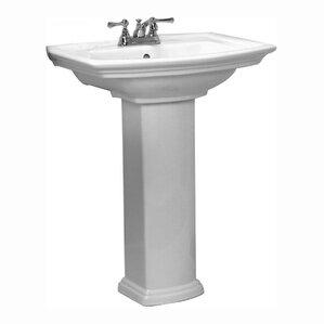 Washington 550 34 Pedestal Bathroom Sink With Overflow