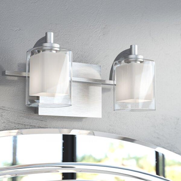 Bathroom Lighting Showroom In Ma: Wade Logan Aldrich 2-Light Vanity Light & Reviews