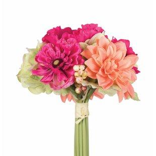 Faux poppies wayfair artificial poppy and dahlia mixed stem mightylinksfo