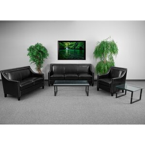 Deontaye Transitional 3 Piece Leather Living Room Set by Red Barrel Studio