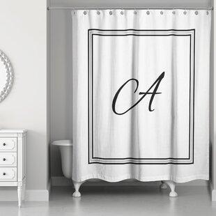 Fabulous Monogram Shower Curtain | Wayfair ET43