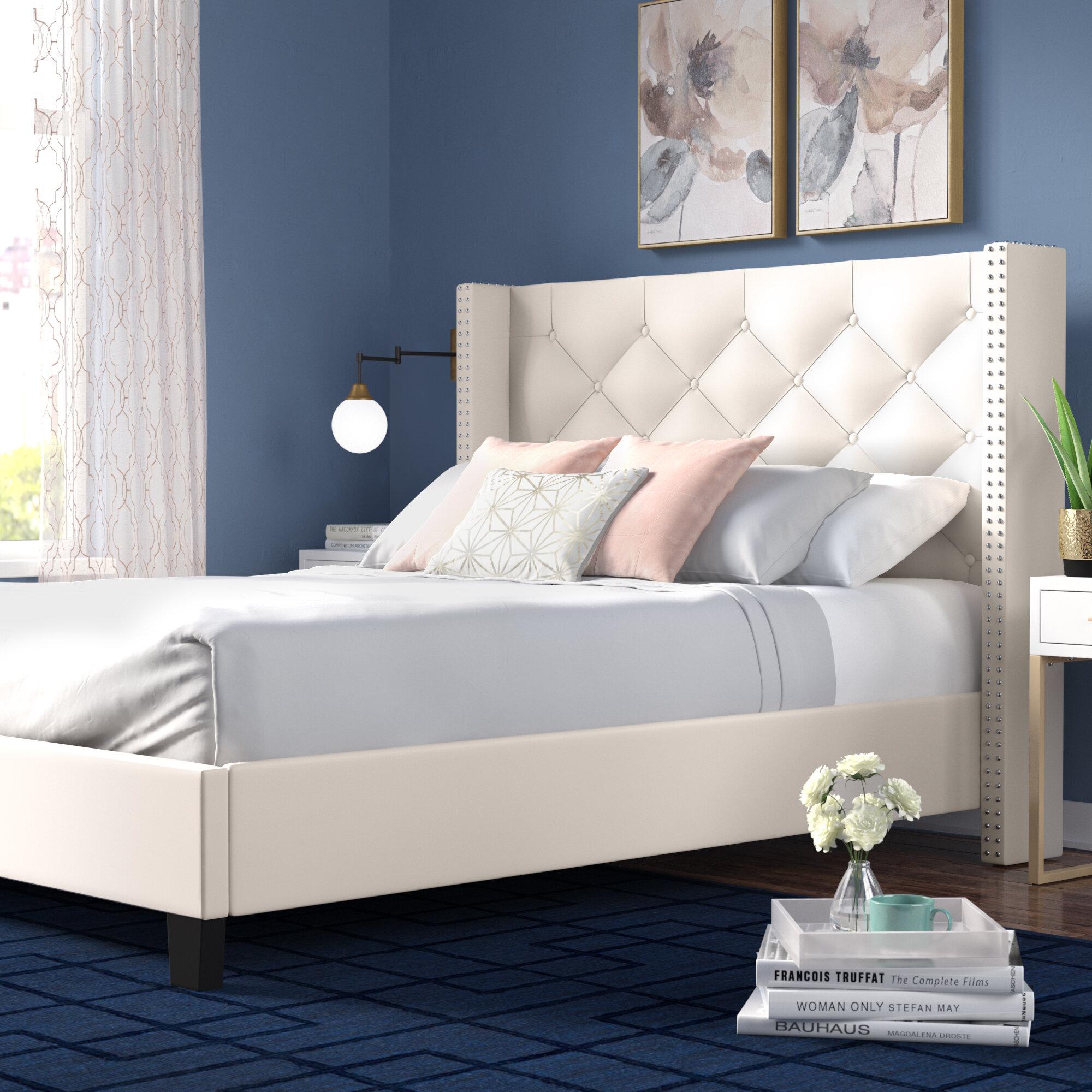 Mercer41 Elsmoriet Queen Upholstered Platform Bed Reviews Wayfair