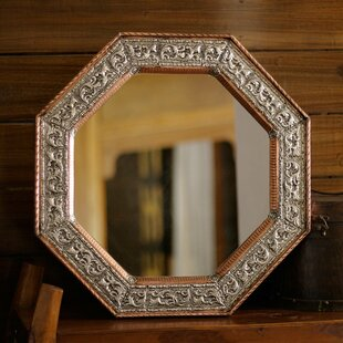 Perfection Repoussé Hammered Copper Frame Wall Mirror