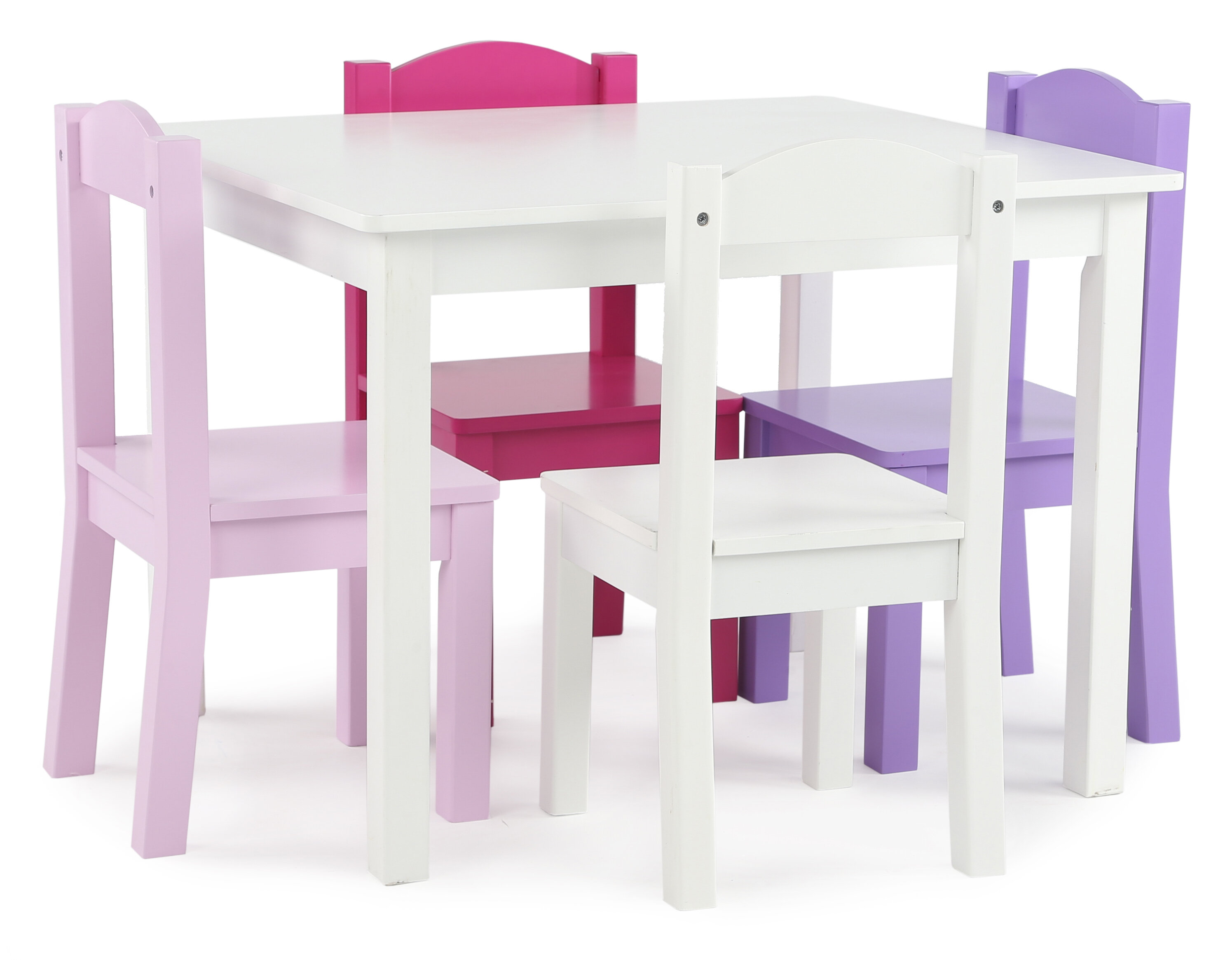 Enjoyable Zoomie Kids Newfolden Kids 5 Piece Rectangle Table And Machost Co Dining Chair Design Ideas Machostcouk