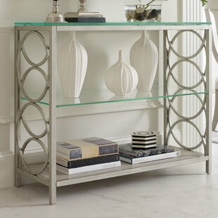 Lovely Cinema Glass Top Console Table