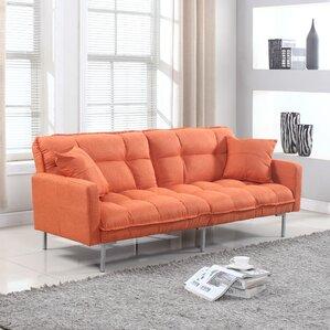 frederick modern plush tufted convertible sofa