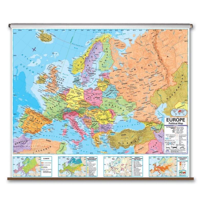 Advanced Political Map - Europe