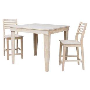 Theodosia 3 Piece Pub Table Set