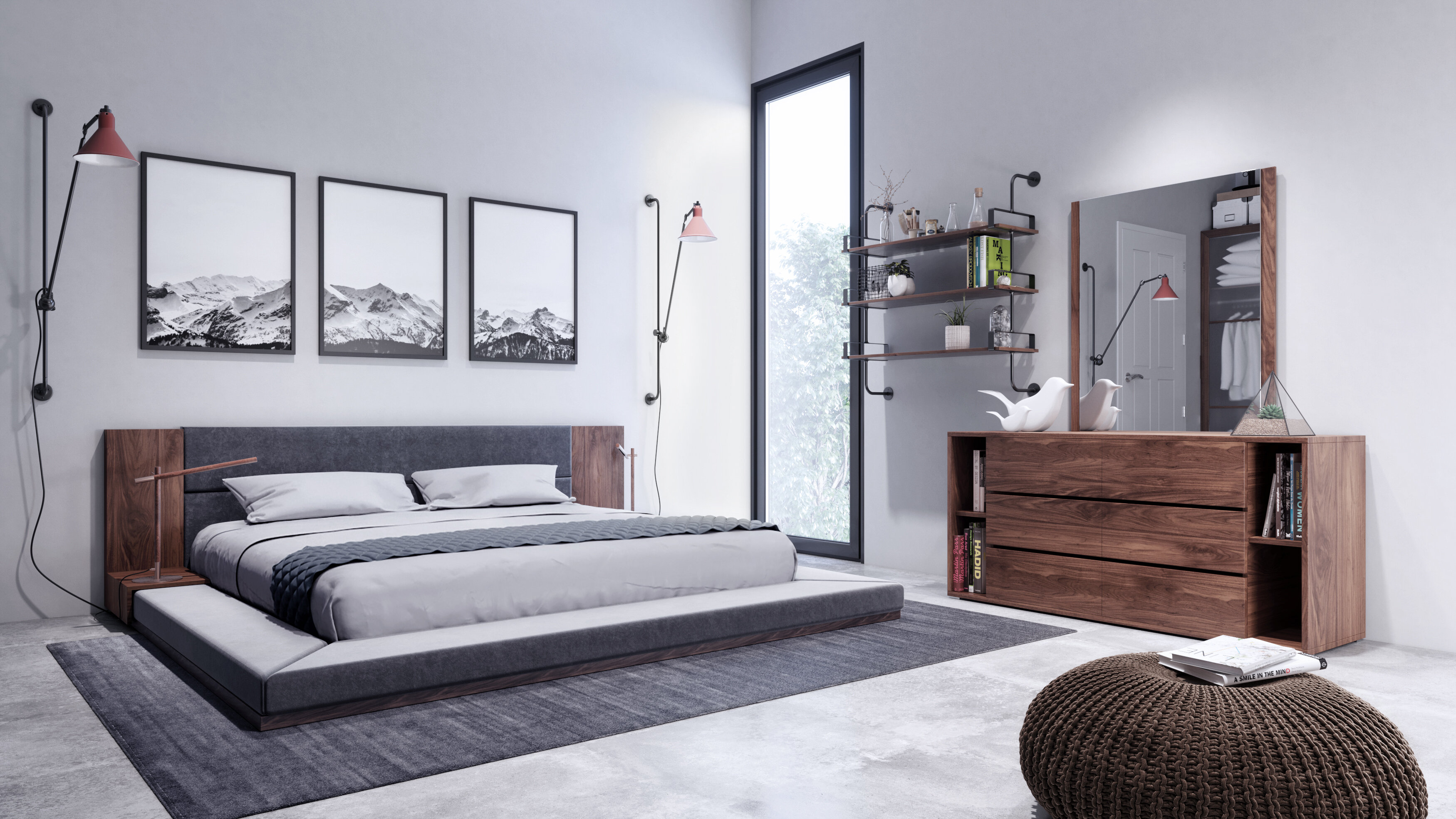 Marvelous Defalco Platform 3 Piece Bedroom Set Download Free Architecture Designs Intelgarnamadebymaigaardcom
