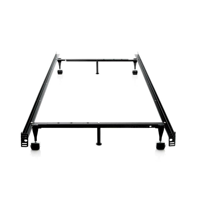 Laverne Heavy Duty 7-Leg Adjustable Metal Bed Frame with Center ...