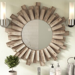 Perillo Burst Wood Accent Mirror