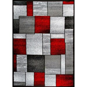 Bennet Red/Gray Indoor/Outdoor Area Rug