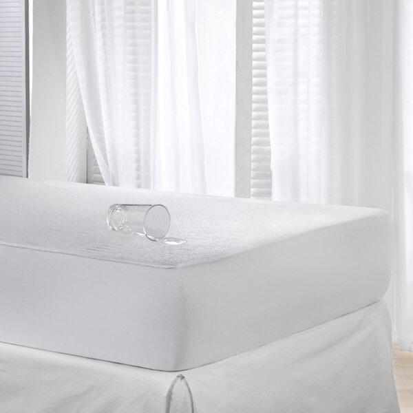 linen depot direct cotton terry waterproof mattress protector u0026 reviews wayfair - Waterproof Mattress Pad