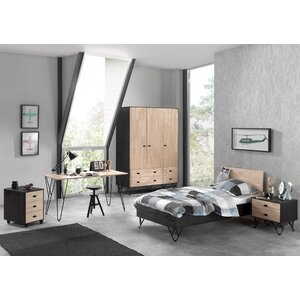 5-tlg. Schlafzimmer-Set William, 90 x 200 cm vo..