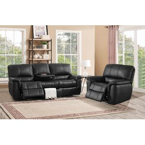 Averill Leather 2 Piece Living Room Set by D..