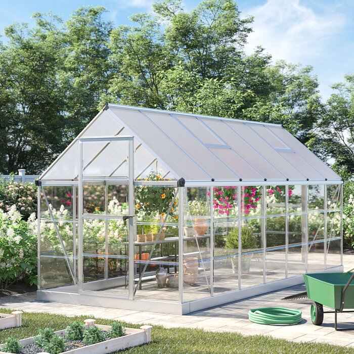 Hybrid 6 Ft  W x 14 Ft  D Cold Frame Greenhouse