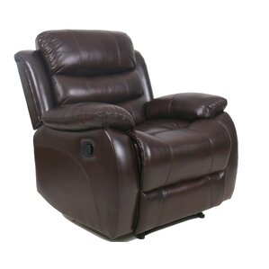 lindsay leather recliner - Brown Leather Recliner