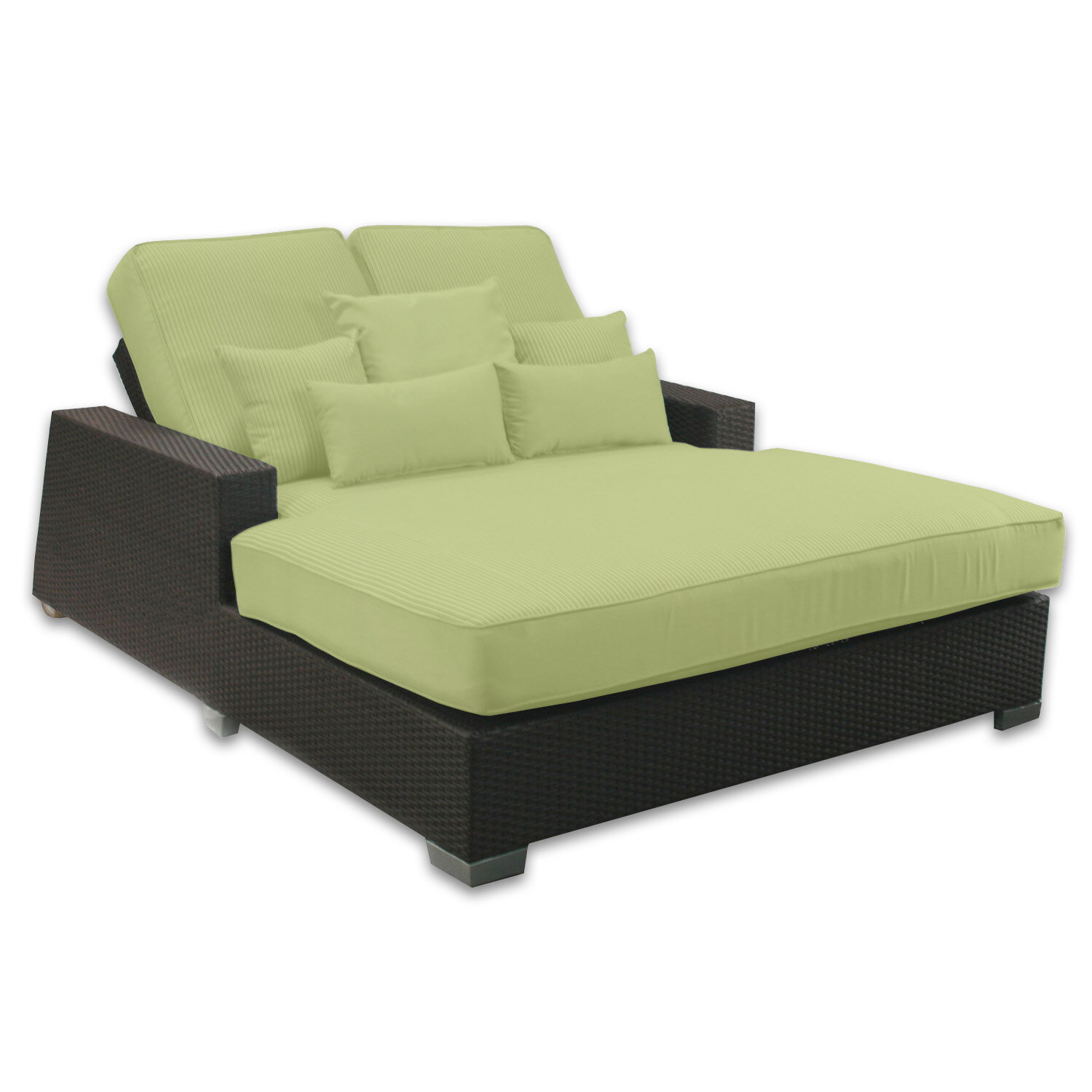 Patio Heaven Signature Double Chaise Lounge With Cushion Reviews Wayfair