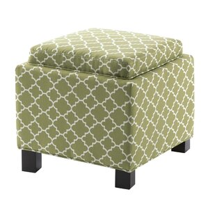 Three Posts Hernandes Square Storage Ottoman with Pillow