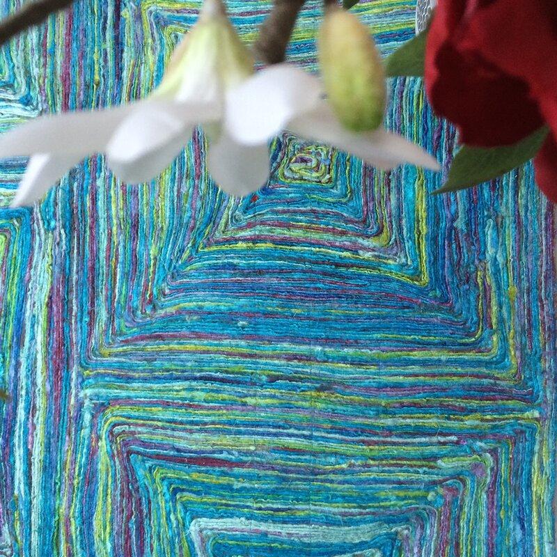 green decore handgewebter teppich in gr n und blau bewertungen. Black Bedroom Furniture Sets. Home Design Ideas
