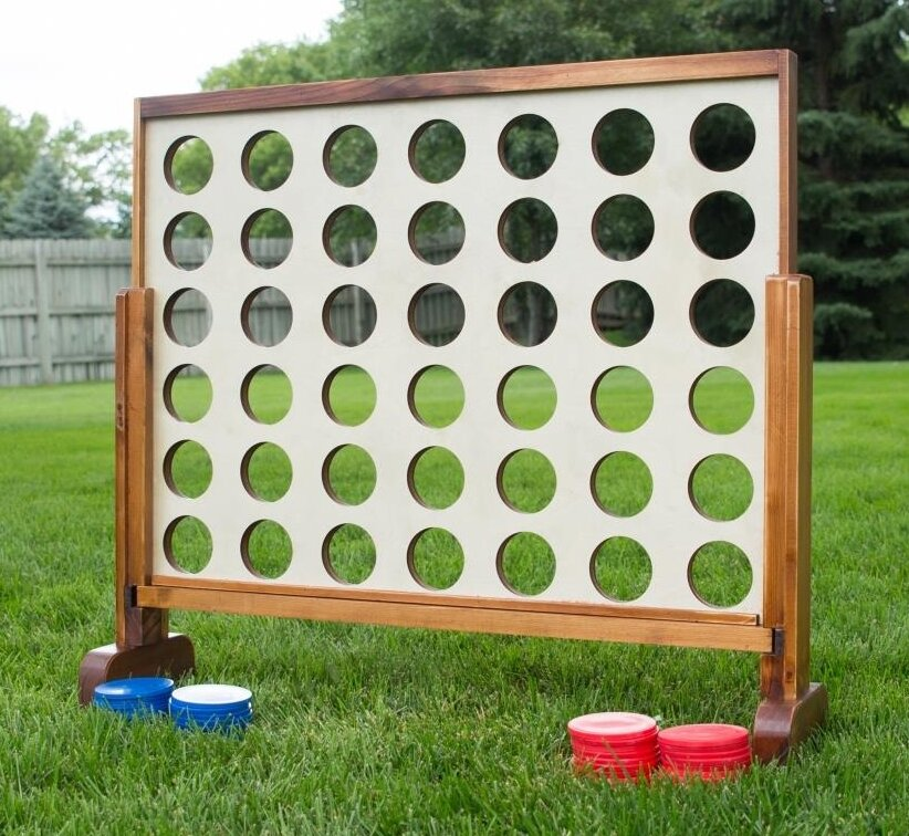 Giant Backyard Games: YardGamesUS 4 Connect In A Row Giant Board Games & Reviews