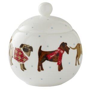 Hound Dog 10cm Bone China Sugar Bowl