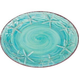 Starfish Melamine Oval Platter
