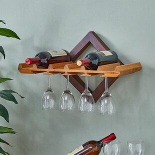 Hadsell 6 Bottle Wall Mounted Wine Rack
