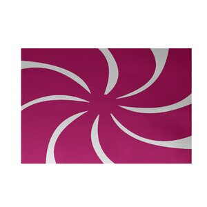 Decorative Holiday Geometric Print Pink Indoor/Outdoor Area Rug