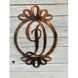 Large Ribbon Monogram Metal Wall Decor