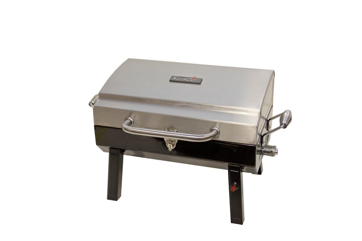 Portable Grill Enclosures : Charbroil deluxe burner portable propane gas grill