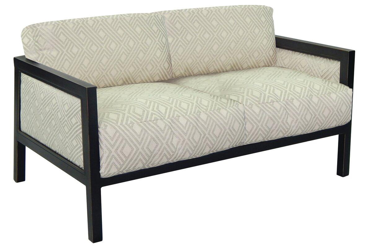 Gold Coast Loveseat with Cushions - Gold Coast Loveseat With Cushions
