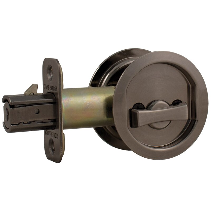Round Pocket Door Hardware stone harbor hardware round pocket door lock & reviews | wayfair