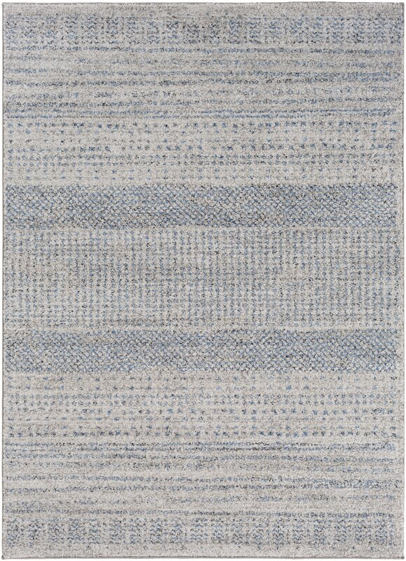 Mistana ponce medium grey bright blue area rug for Bright blue area rug