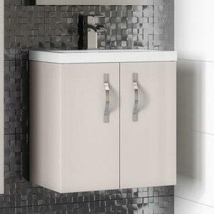Ultra 60 cm Wandmontierter Waschtisch Apollo mit Schrank
