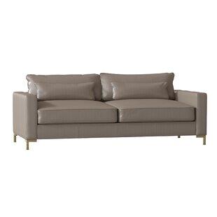 Maxine Leather Sofa By Dwellstudio