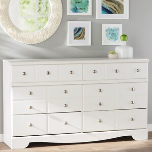 Carrabassett 6 Drawer Double Dresser by Beachcrest Home