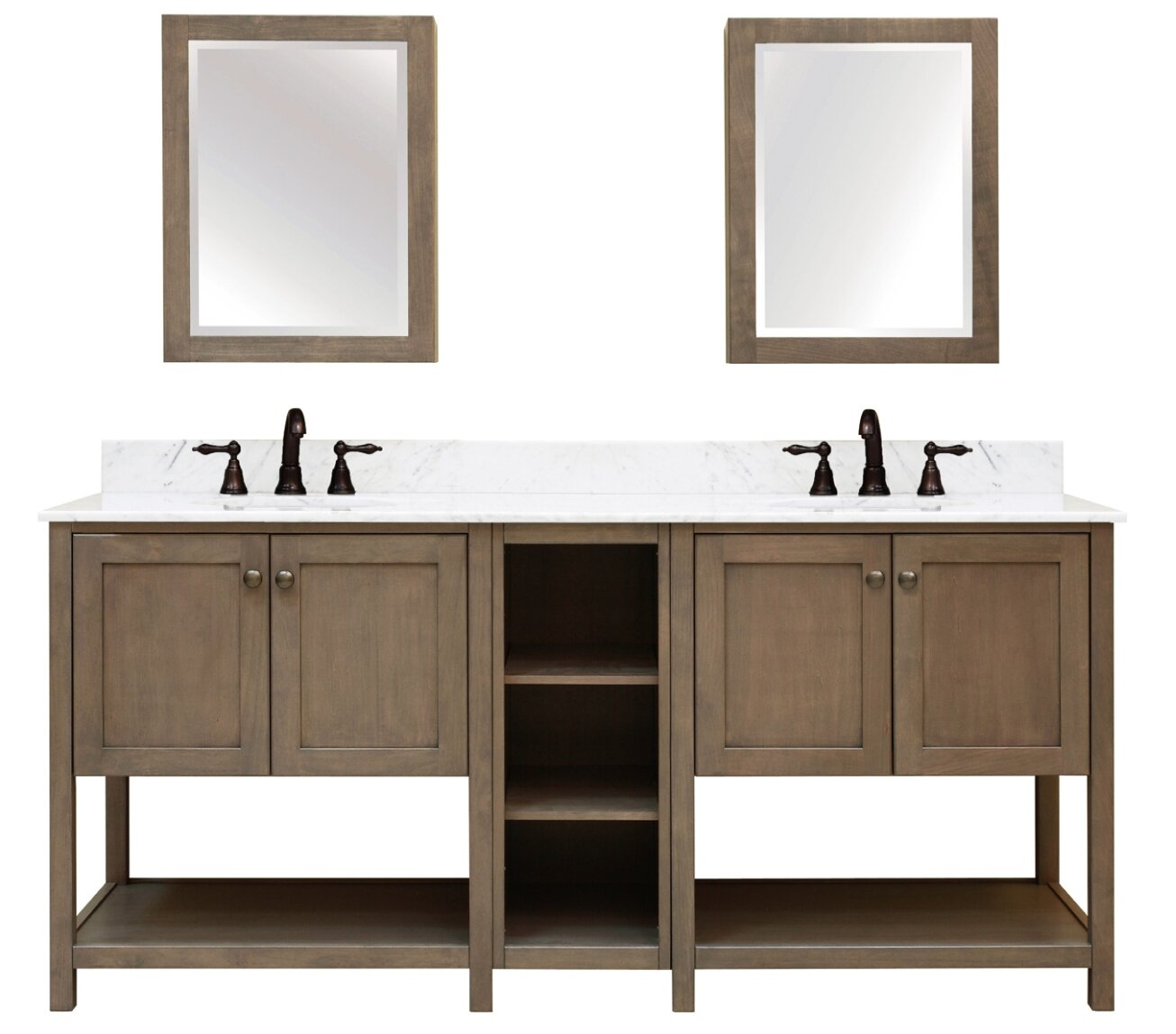 Bathroom Vanities Without Tops Youll Love Double Sink Plumbing Diagram Search Results Aiden Bath 2 Shelf Modular Component For Vanity Base