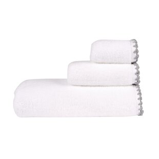 White Towels With Silver Trim Wayfair