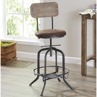 Siyeh Adjustable Height Swivel Bar Stool