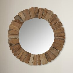 Round Wall Mirrors jeffan sedona round wall mirror & reviews | wayfair