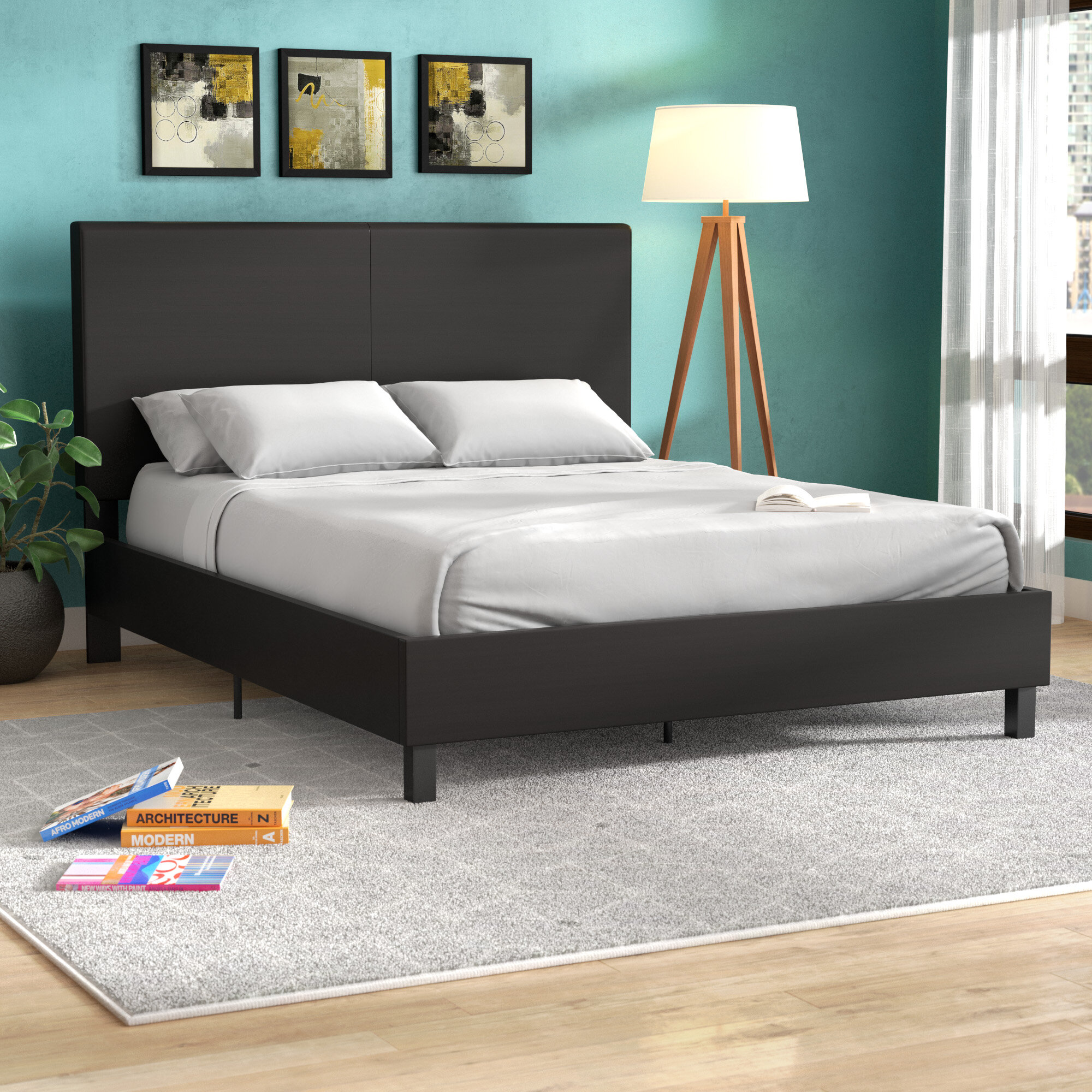 Wrought Studio Pulliam Upholstered Panel Bed Reviews Wayfair